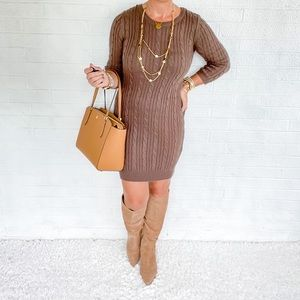 🍁 Forever 21 Brown Sweater Dress - S 🍁